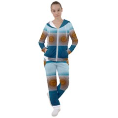 Argentina Flag Country Nation Women s Tracksuit