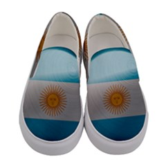 Argentina Flag Country Nation Women s Canvas Slip Ons