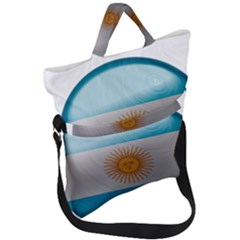 Argentina Flag Country Nation Fold Over Handle Tote Bag by Sapixe