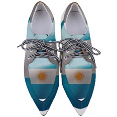 Argentina Flag Country Nation Pointed Oxford Shoes