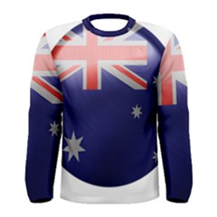 Australia Flag Country National Men s Long Sleeve Tee by Sapixe