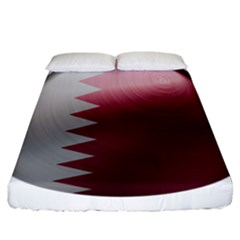 Qatar Flag Country Nation National Fitted Sheet (california King Size)