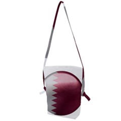 Qatar Flag Country Nation National Folding Shoulder Bag by Sapixe