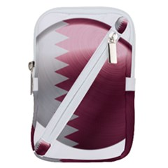 Qatar Flag Country Nation National Belt Pouch Bag (large)
