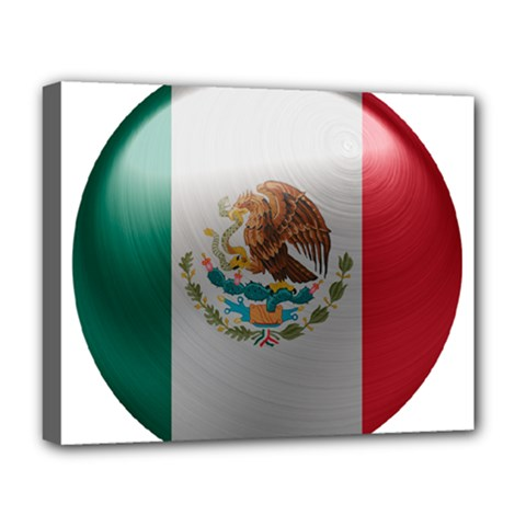 Mexico Flag Country National Deluxe Canvas 20  X 16  (stretched) by Sapixe