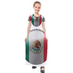 Mexico Flag Country National Kids  Short Sleeve Maxi Dress by Sapixe