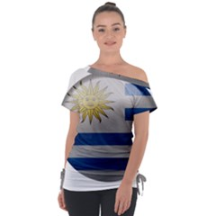 Uruguay Flag Country Symbol Nation Tie Up Tee by Sapixe