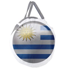 Uruguay Flag Country Symbol Nation Giant Round Zipper Tote by Sapixe
