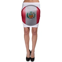 Peru Flag Country Symbol Nation Bodycon Skirt
