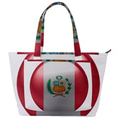 Peru Flag Country Symbol Nation Back Pocket Shoulder Bag