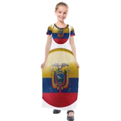 Ecuador Flag Ecuadorian Country Kids  Short Sleeve Maxi Dress by Sapixe