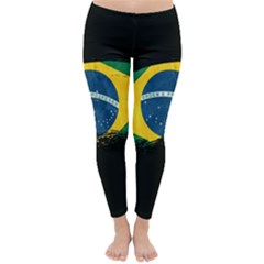 Flag Brazil Country Symbol Classic Winter Leggings by Sapixe