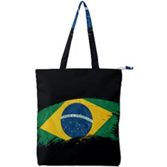 Flag Brazil Country Symbol Double Zip Up Tote Bag