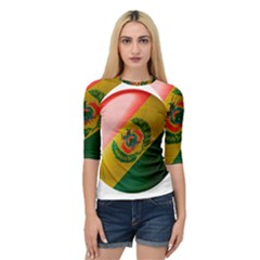 Bolivia Flag Country National Quarter Sleeve Raglan Tee by Sapixe