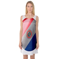 Paraguay Flag Country Nation Sleeveless Satin Nightdress