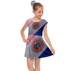 Paraguay Flag Country Nation Kids  Cap Sleeve Dress