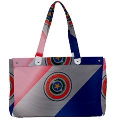 Paraguay Flag Country Nation Canvas Work Bag by Sapixe