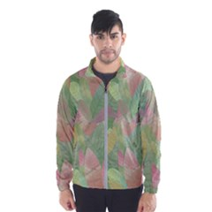 Watercolor Leaves Pattern Men s Windbreaker