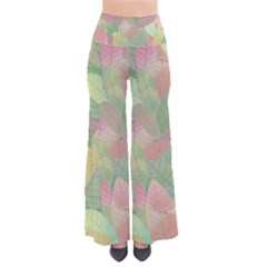 Watercolor Leaves Pattern So Vintage Palazzo Pants