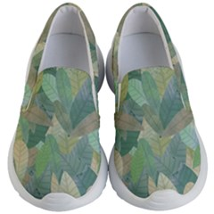 Watercolor Leaves Pattern Kids  Lightweight Slip Ons by Valentinaart