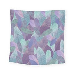 Watercolor Leaves Pattern Square Tapestry (small)