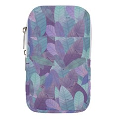 Watercolor Leaves Pattern Waist Pouch (large)