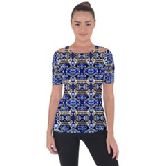 D 9 1 Shoulder Cut Out Short Sleeve Top