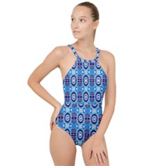 E 6 1 High Neck One Piece Swimsuit