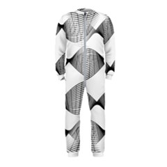 Something Twisted Black And White Lines Pattern Onepiece Jumpsuit (kids) by CrypticFragmentsColors