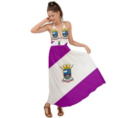 Flag Of Cabo De Hornos Backless Maxi Beach Dress by abbeyz71