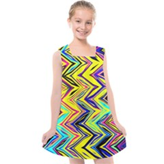 Mycolorfulchevron Kids  Cross Back Dress by designsbyamerianna