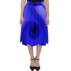 Blue Spiral Musical Note Classic Midi Skirt by CrypticFragmentsDesign