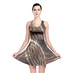 Copper Canyon Metallic Abstract Art Reversible Skater Dress by CrypticFragmentsDesign