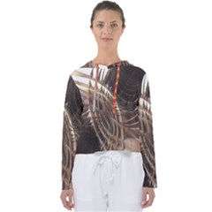 Copper Canyon Metallic Abstract Art Women s Slouchy Sweat