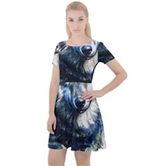 Gray Wolf - Forest King Cap Sleeve Velour Dress