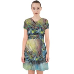 Original Abstract Art Adorable In Chiffon Dress