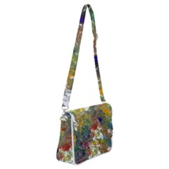 Original Abstract Art Shoulder Bag With Back Zipper by scharamo