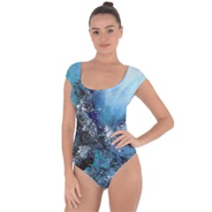 Original Abstract Art Short Sleeve Leotard  by scharamo