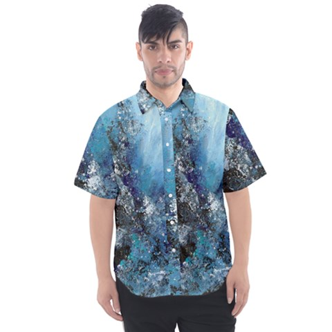 Original Abstract Art Men s Short Sleeve Shirt by scharamo