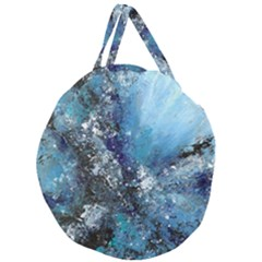 Original Abstract Art Giant Round Zipper Tote by scharamo