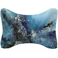 Original Abstract Art Seat Head Rest Cushion by scharamo