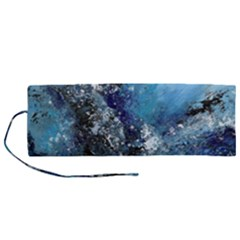 Original Abstract Art Roll Up Canvas Pencil Holder (m)