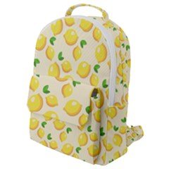 Fruits Template Lemons Yellow Flap Pocket Backpack (small) by Pakrebo
