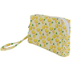 Fruits Template Lemons Yellow Wristlet Pouch Bag (small)
