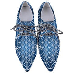 Mandala Flower Of Life Women s Pointed Oxford Shoes