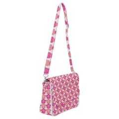 Sakura Flower Pattern Shoulder Bag With Back Zipper by Pakrebo