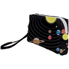 Solar System Planets Sun Space Wristlet Pouch Bag (small)