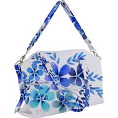 Watercolour Flowers Watercolor Canvas Crossbody Bag