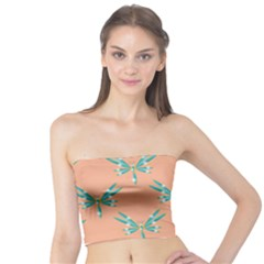 Turquoise Dragonfly Insect Paper Tube Top