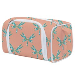 Turquoise Dragonfly Insect Paper Toiletries Pouch by Pakrebo